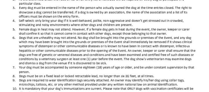 thumbnail of Rules and Regulations for Bringing Your Dog Attending SDS